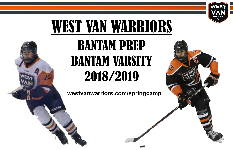 Warriors to Operate Bantam Prep for 2018/2019 Season